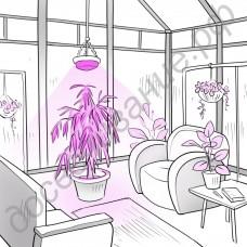 """LED GROW светильник для теплиц, гроубоксов, оранжерей, зимних садов """"Менкалиан"""" 150 Вт"""