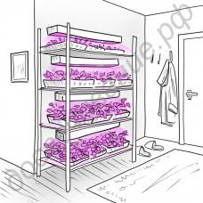 """Подсветка светодиодная для стеллажей с рассадой, комнатными растениями, с тепличными культурами """"Наос"""" 40-100Вт"""